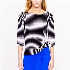 NWT J.CREW Mariner Stripe Boatneck Tee size XL